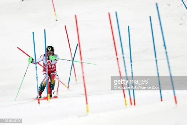 Marcel Hirscher of Austria in action during the Audi FIS Alpine Ski World Cup Men's Slalom on January 29 2019 in Schladming Austria