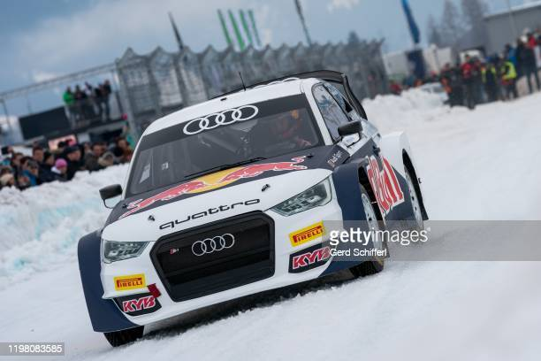 February 2: Marcel Hirscher of Austria in his Audi S1 EKS WRX quattro during the GP ICE RACE on February 2, 2020 in Zell am See, Austria.