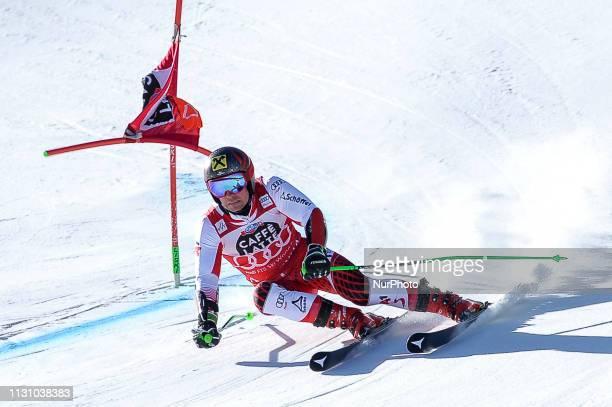 Marcel Hirscher of Austria Ski Team, during Men's Giant Slalom Audi FIS Ski World Cup race, on March 16, 2019 in El Tarter, Andorra.