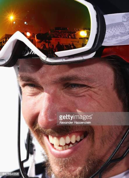Marcel Hirscher of Austria smiles after winning the gold medal in the Men's Slalom during the FIS Alpine World Ski Championships on February 19 2017...