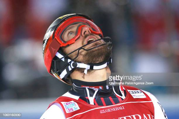 Marcel Hirscher of Austria takes 1st place during the Audi FIS Alpine Ski World Cup Men's Slalom on November 18 2018 in Levi Finland