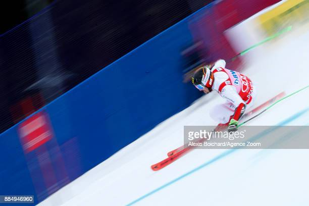 Marcel Hirscher of Austria takes 1st place during the Audi FIS Alpine Ski World Cup Men's Giant Slalom on December 3 2017 in Beaver Creek Colorado