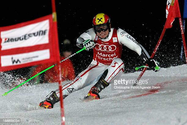 Marcel Hirscher of Austria takes 2nd place during the Audi FIS Alpine Ski World Cup Men's and Women's Parallel Slalom on January 1 2013 in Munich...