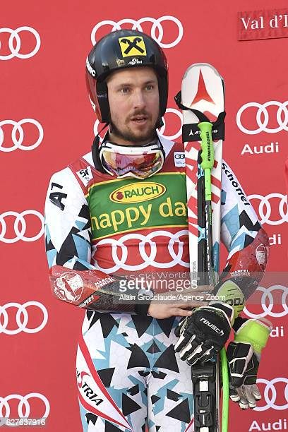 Marcel Hirscher of Austria takes 2nd place during the Audi FIS Alpine Ski World Cup Men's Giant Slalom on December 4 2016 in Val d'Isere France