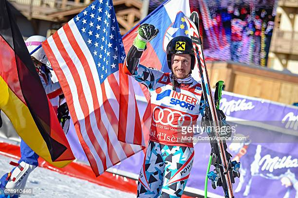 Marcel Hirscher of Austria takes 2nd place during the Audi FIS Alpine Ski World Cup Men's Giant Slalom on December 10 2016 in Vald'Isere France