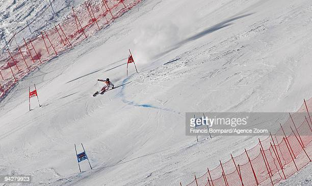Marcel Hirscher of Austria takes 2nd place during the Audi FIS Alpine Ski World Cup Men's Super Combined on December 11 2009 in Val d'Isere France