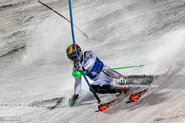 Marcel Hirscher of Austria takes 3rd place during the Audi FIS Alpine Ski World Cup Men's Slalom December 08 2012 in Val d'Isere France