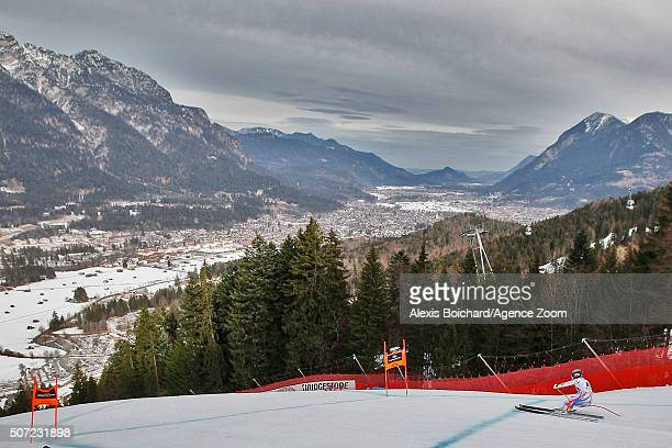 Marcel Hirscher of Austria takes the 1st place during the Audi FIS Alpine Ski World Cup Men's Slalom on January 26 2016 in Schladming Austria