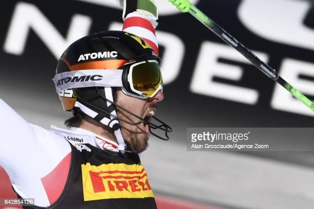 Marcel Hirscher of Austria wins the gold medal during the FIS Alpine Ski World Championships Men's Slalom on February 19 2017 in St Moritz Switzerland