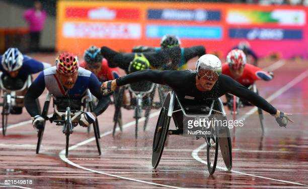 Marcel Hug of Switzerland Men's 5000m T54 Final during World Para Athletics Championships at London Stadium in London on July 23 2017