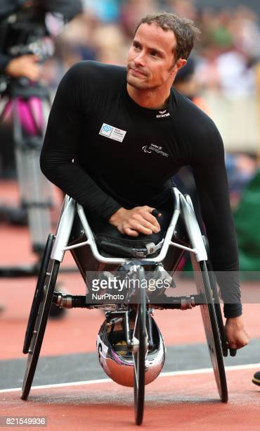 Marcel Hug of Switzerland Men's 5000m T54 Final during World Para Athletics Championships at London Stadium in London on July 23 2017