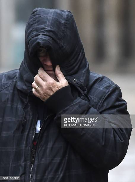 Marcel Jacob arrives at the courthouse in Dijon central eastern France on December 4 prior to a hearing as part of the case of the 1984 murder of the...
