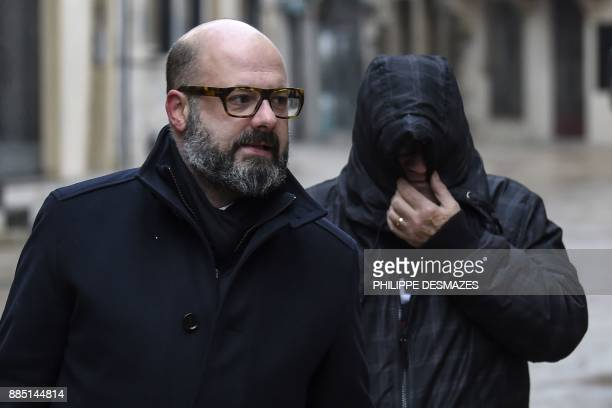 Marcel Jacob arrives with his lawyer Stephane Giuranna at the courthouse in Dijon, central eastern France, on December 4 prior to a hearing as part...