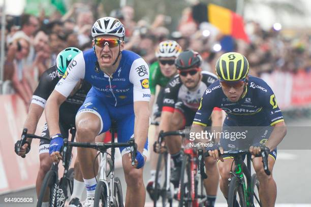 Marcel Kittel from QuickStep Floors wins the second stage a 153 km Nation Towers stage from Abu Dhabi Al Maryah Island to Abu Dhabi Al Marina On...