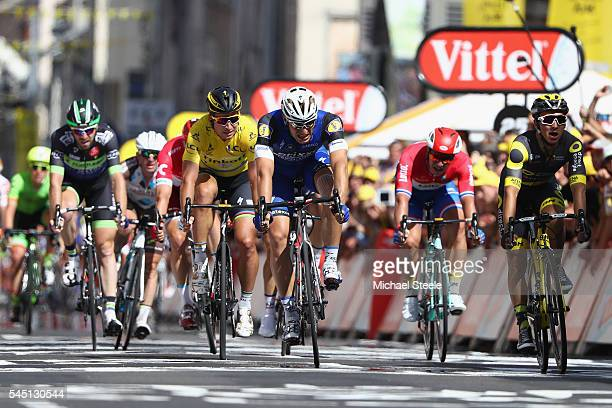 Marcel Kittel of Germany and Etixx Quick Step wins the stage from Bryan Coquard of France and Direct Energies during stage four of Le Tour de France...