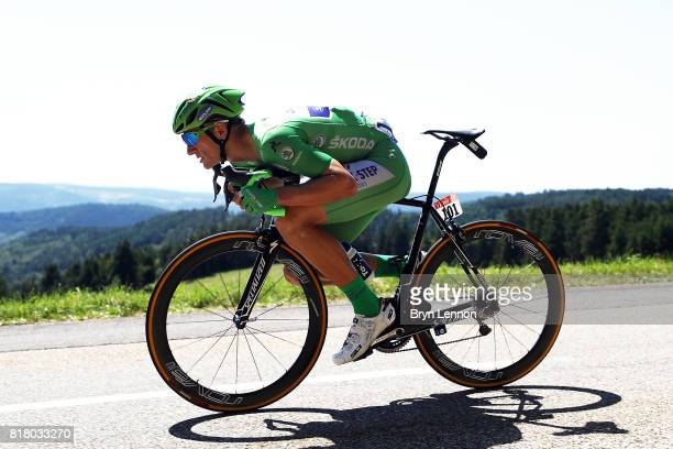 Marcel Kittel of Germany and Quick Step Floors descends in the peloton on stage sixteen of the 2017 Tur de France a 165km road stage from Le Puy...