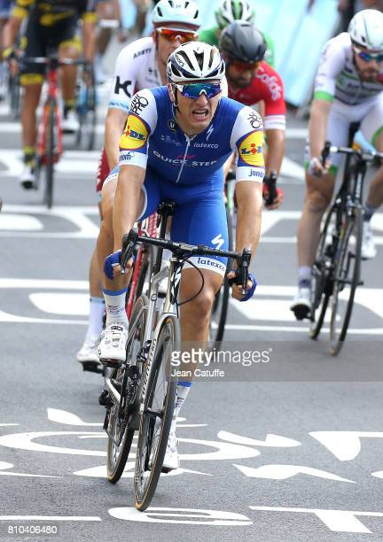 Marcel Kittel of Germany and Quick Step Floors wins stage 7 of the Tour de France 2017 a stage between Troyes and NuitsSaintGeorges on July 7 2017 in...
