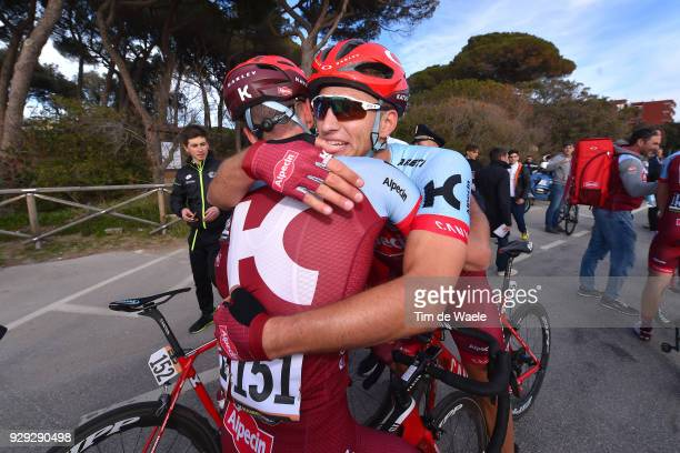 Marcel KITTEL of Germany and Simon Spilak of Slovenia celebrating at arrival during the 53rd TirrenoAdriatico 2018 / Stage 2 a 172km stage from...