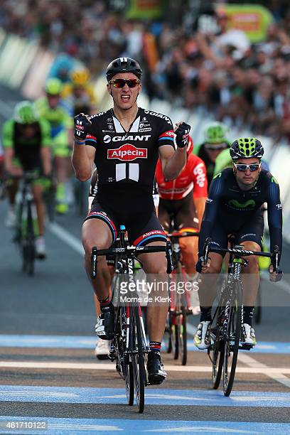 Marcel Kittel of Germany and Team Giant Alpecin celebrates after winnig the People's Choice Classic a one day event prior to Stage 1 of the 2015...