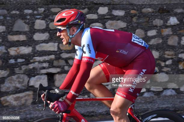 Marcel Kittel of Germany and Team KatushaAlpecin / during the 109th MilanSanremo 2018 a 291km race from Milan to Sanremo on March 17 2018 in Sanremo...