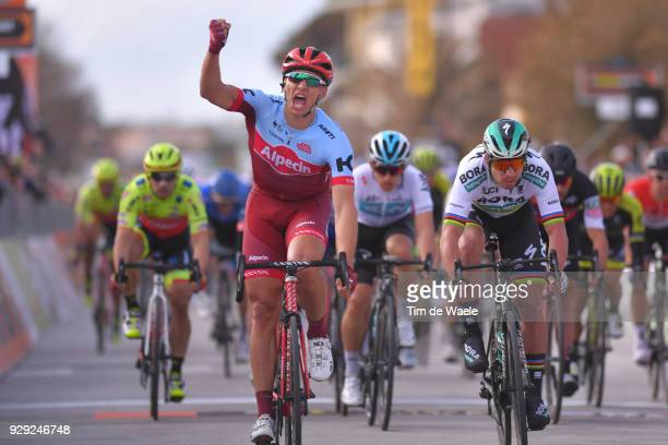 Marcel KITTEL of Germany celebrating Peter Sagan of Slovakia Giacomo Nizzolo of Italy at sprint during the 53rd TirrenoAdriatico 2018 / Stage 2 a...