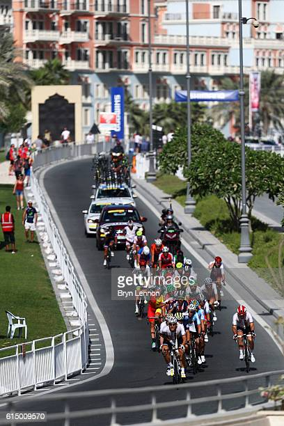Marcel Kittel of Germany leads the chasing group during the Elite Men's Road Race on day eight of the UCI Road World Championships on October 16 2016...