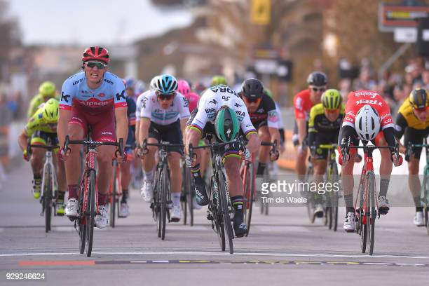Marcel KITTEL of Germany Peter Sagan of Slovakia Giacomo Nizzolo of Italy at srint during the 53rd TirrenoAdriatico 2018 / Stage 2 a 172km stage from...