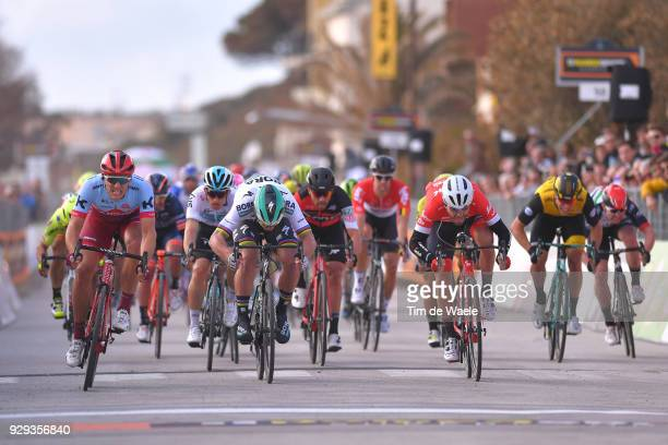 Marcel KITTEL of Germany Peter Sagan of Slovakia Giacomo Nizzolo of Italy at sprint during the 53rd TirrenoAdriatico 2018 / Stage 2 a 172km stage...