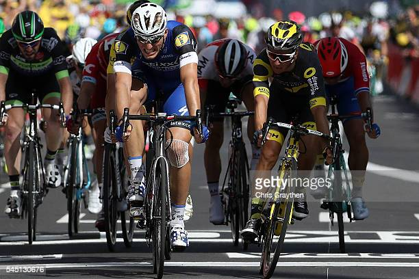 Marcel Kittel of Germany riding for EtixxQuick Step wins ahead of Bryan Coquard of France riding for Direct Energie during stage five of the 2016 Le...