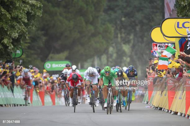 Marcel Kittel of Germany riding for QuickStep Floors sprints to the finish line during stage 10 of the 2017 Le Tour de France a 178km stage from...