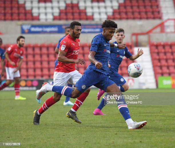Marcel Lavinier of Chelsea during the Swindon Town v Chelsea Development Squad EFL Trophy match at The County Ground on August 6th 2019 in Swindon...