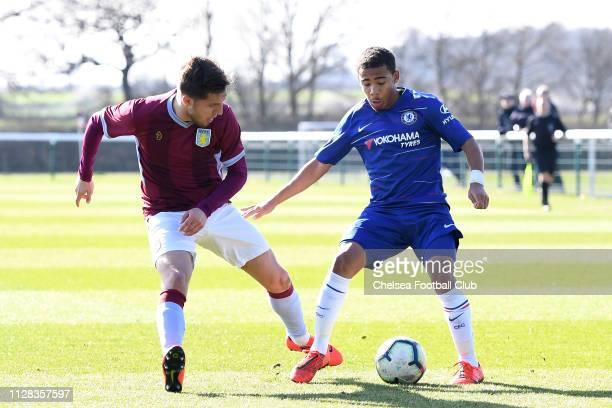 Marcel Lewis of Chelsea during the Aston Villa U18 v Chelsea U18 match at Bodymoor Heath Training Ground on March 2 2019 in Tamworth England