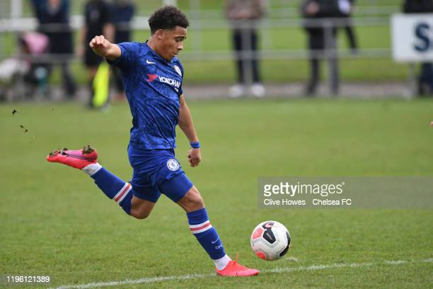 Marcel Lewis of Chelsea during the U18 Premier League Cup match between Newcastle United U18s and Chelsea FC U18s on January 25 2020 in Newcastle...