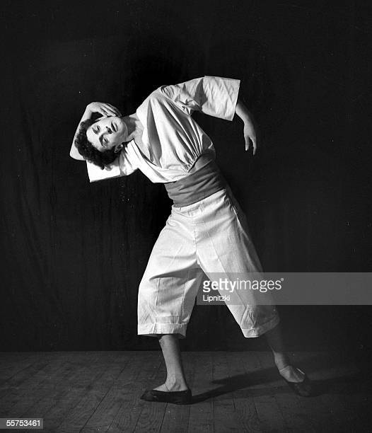 """Marcel Marceau in """" Pantomines """". Paris, theater of Poche. March 1947. LIP-9285-073."""