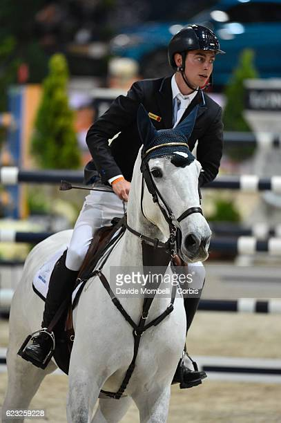 Marcel of Germany rides Fenia van Klapscheut during the FEI Longines CSI5* World Cup Small Tour By BMW Jumping Verona 2016 on November 10 2016 in...