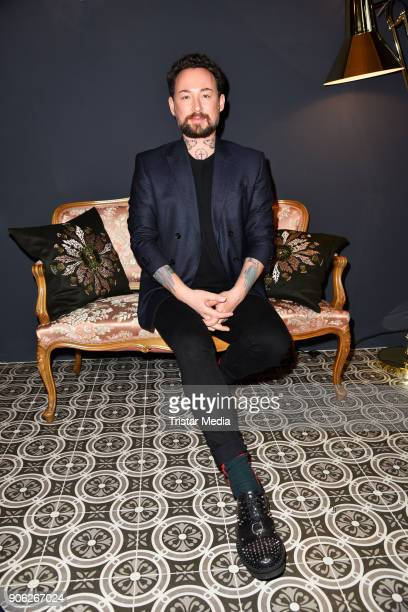 Marcel Ostertag during the Marcel Ostertag Fashion Presentation on January 17 2018 in Berlin Germany