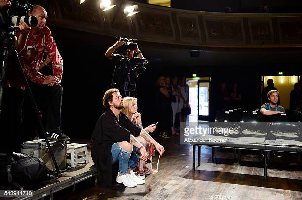 Marcel Ostertag is seen during the rehearsal ahead of at the Marcel Ostertag show during the MercedesBenz Fashion Week Berlin Spring/Summer 2017 at...