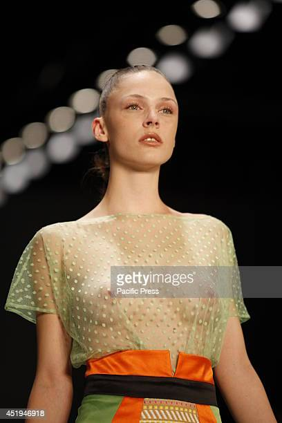 STADIUM MüLLERSTRAßE 185 BERLIN GERMANY Marcel Ostertag's collection was shown during the MercedesBenz Fashion Week Berlin Spring/Summer 2015 at...