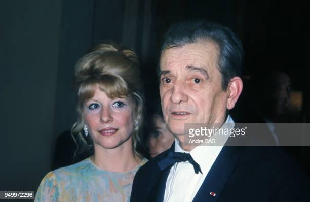 Marcel Pagnol et son épouse Jacqueline, circa 1970, en France.