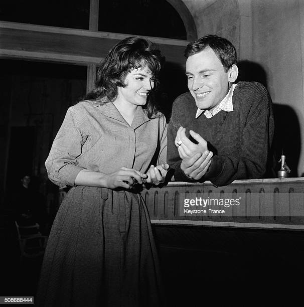 Marcel Pagnol's Play 'Marius' With Catherine Rouvel And JeanLouis Trintignant At the Théâtre Des Variétés in Paris France on April 16 1962
