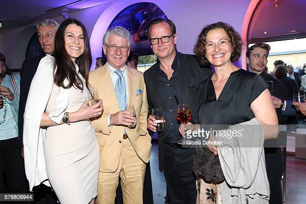 Marcel Reif and his wife Dr. Marion Kiechle and Matthias Brandt and his wife Sophia Brandt during the Mercedes-Benz reception at 'Klassik am...