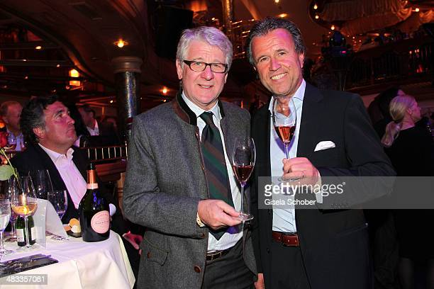 Marcel Reif and Thomas Schreiner CEO Laurent Perrier Champagner attend the Gala 'Nacht der Koeche' during the 17th 'SterneCup der Koeche' skiing...