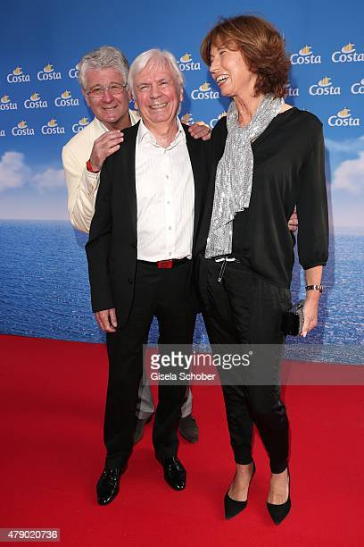 Marcel Reif Dieter Kuerten and his wife Petra Kuerten attend the Movie meets Media party during the Munich Film Festival on June 29 2015 in Munich...