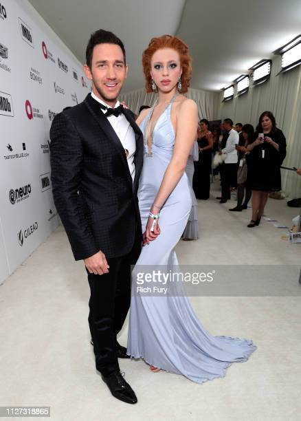 Marcel Remus and Anna Ermakova attend the 27th annual Elton John AIDS Foundation Academy Awards Viewing Party sponsored by IMDb and Neuro Drinks...