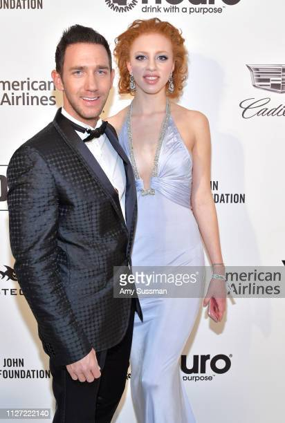 Marcel Remus and Anna Ermakowa attend the 27th annual Elton John AIDS Foundation Academy Awards Viewing Party celebrating EJAF and the 91st Academy...