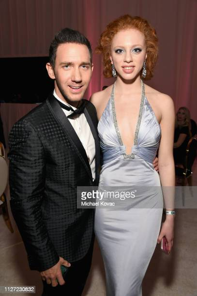 Marcel Remus and Anna Ermakowa attend the 27th annual Elton John AIDS Foundation Academy Awards Viewing Party sponsored by IMDb and Neuro Drinks...
