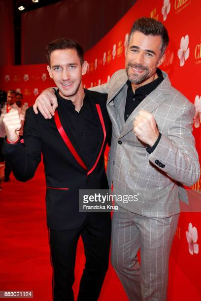 Marcel Remus and Jo Weil attend the Mon Cheri Barbara Tag 2017 at Postpalast on November 30 2017 in Munich Germany