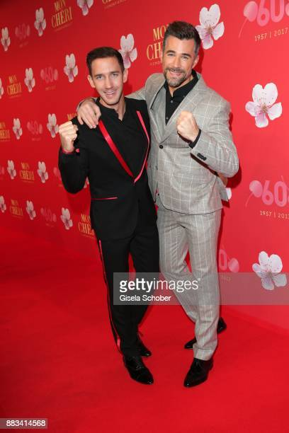 Marcel Remus and Jo Weil during the Mon Cheri Barbara Tag at Postpalast on November 30 2017 in Munich Germany
