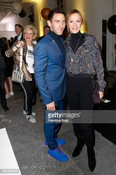 Marcel Remus and Katja Flint during the Rodenstock Eyewear Show on January 12 2018 in Munich Germany