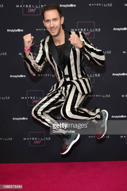 Marcel Remus attends the Maybelline New York show 'Makeup that makes it in New York' during the Berlin Fashion Week Autumn/Winter 2019 at Postbahnhof...